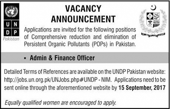 Admin And Finance Officer Jobs In United Nation Development Program Sep 2017