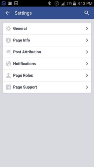 """ضمن """"الإعدادات"""" ، انقر أو انقر على """"عام"""" لإظهار ميزة """"التحقق من الصفحة"""" لصفحتك على Facebook."""