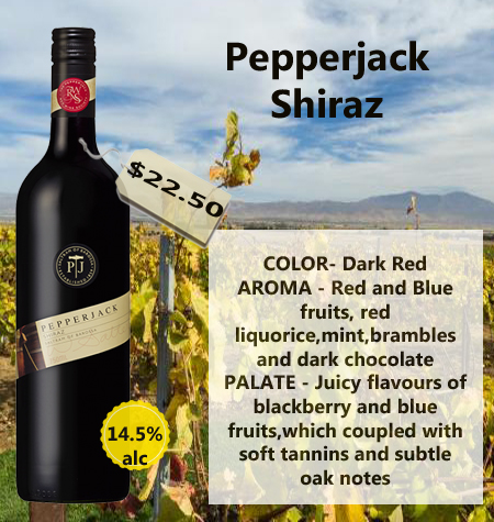 Pepperjack Shiraz 2015 Barossa Valley