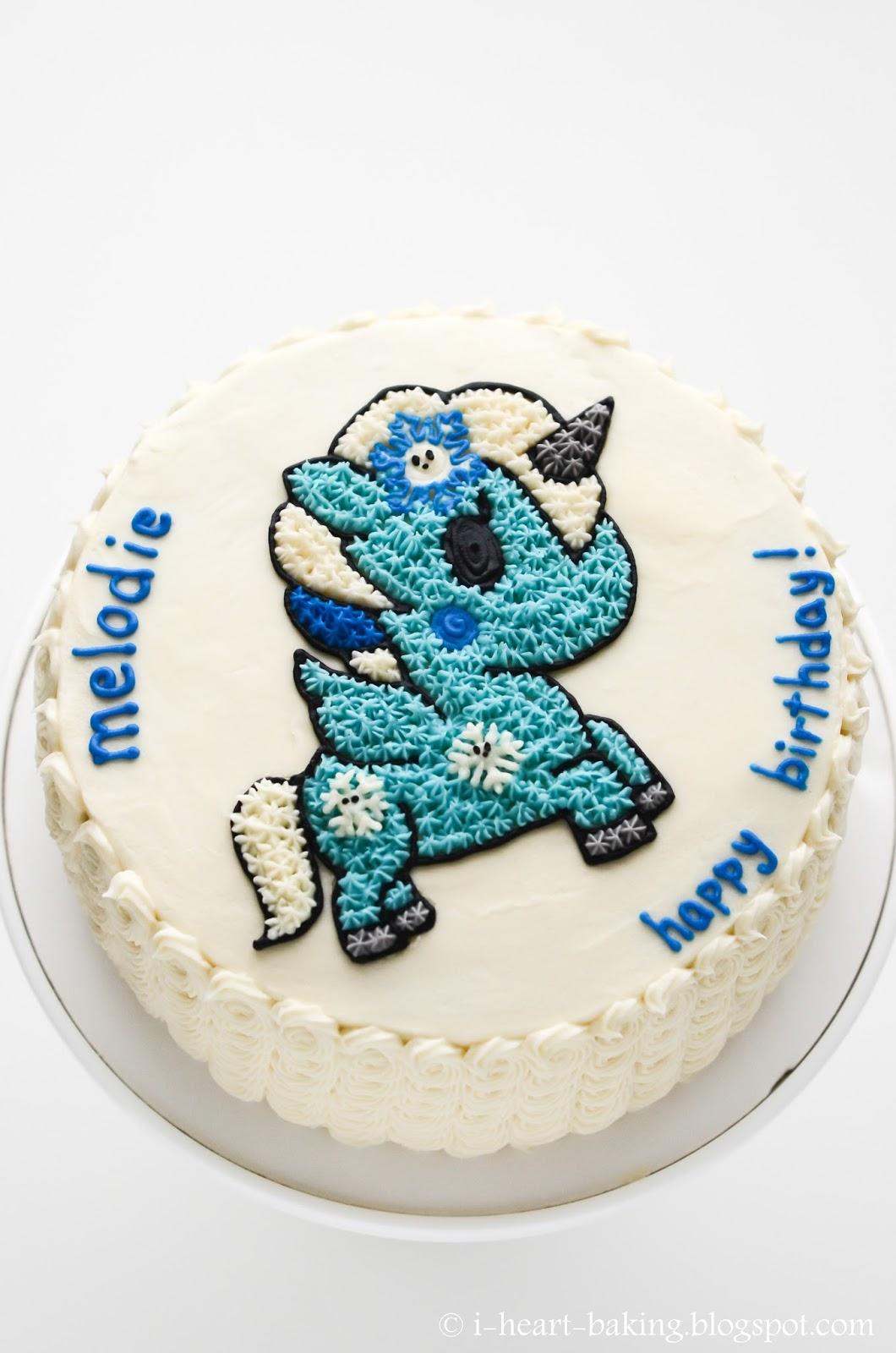 I Heart Baking Winter Yuki Tokidoki Unicorn Birthday Cake