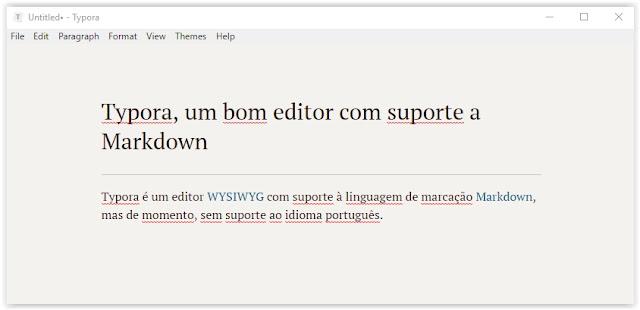 Screenshot Typora - Um bom editor com suporte a Markdown