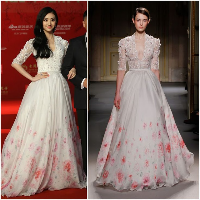Jing Tian in Georges Hobeika (Spring 2013 Couture) – 2013 Shanghai Film Festival Opening Ceremony
