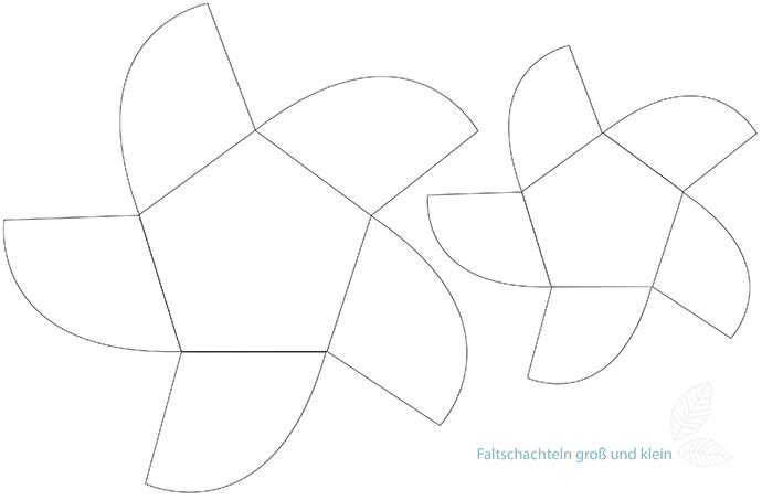 Ynas Designblog | Faltschachtel DIY - Downloadvorlage