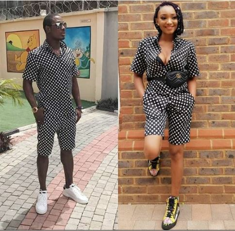 Footballer Ighalo & Wife Rock Matching Outfits In Style