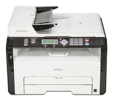 The fast as well as superbly equipped monochrome Light Amplification by Stimulated Emission of Radiation multifunctional is peculiarly suited to us Ricoh SP 204SFNW Driver Download