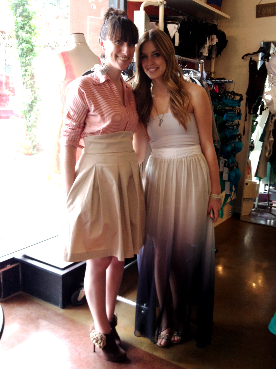 Chasing Sheila Bri Seeley Trunk Show Fash Black In Her Kori Top And Jaclyn Skirt Sydney Arianna Ombre Sheer Chiffon