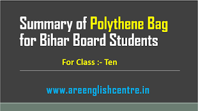 Summary of Polythene Bag for Bihar Board Students