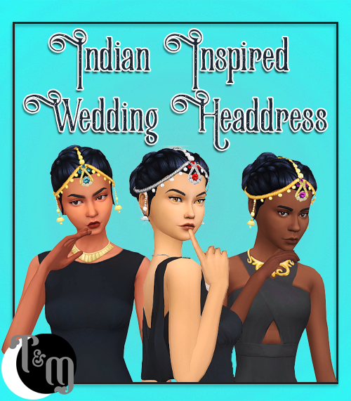 Indian Wedding Headdress: My Sims 4 Blog: Indian Inspired Wedding Headdress By Teanmoon