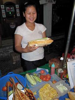 Laos Sandwhich Night Market Luang Prabang