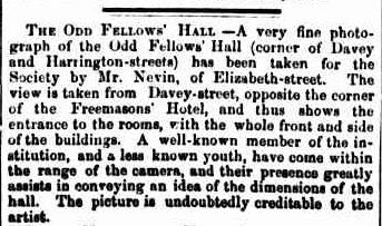 Thomas Nevin photographer of Odd Fellows Hall 1871