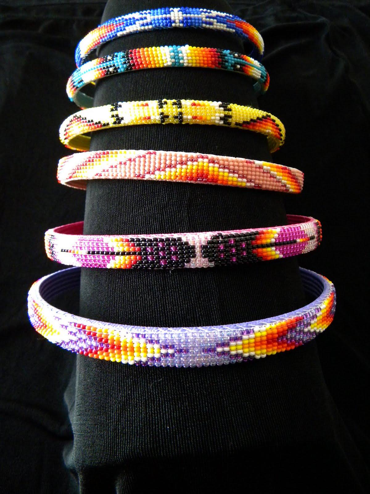 Beaded Native American Hair Bands