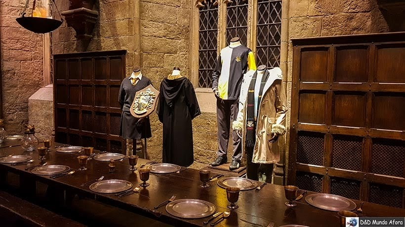 Salão Comunal do castelo de Hogwart: Harry Potter em Londres: tour no estúdio Warner Bros