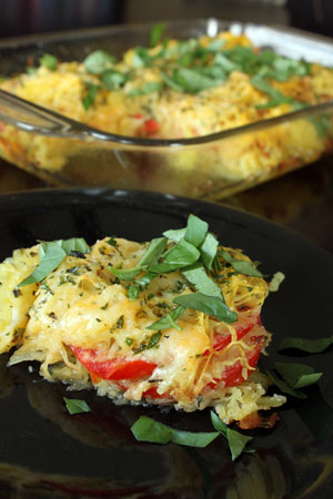 had spaghetti squash you need to its a mild squash that subs perfectly ...