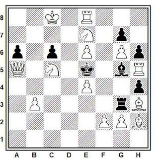 Problema de mate en 2 compuesto por Eeltje Visserman (1º Premio, Probleemblad 1954)