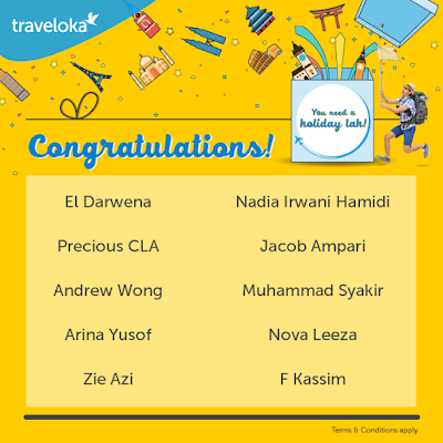 WEEKLY WINNER TRAVELOKA CONTEST YOU NEED A HOLIDAY LAH