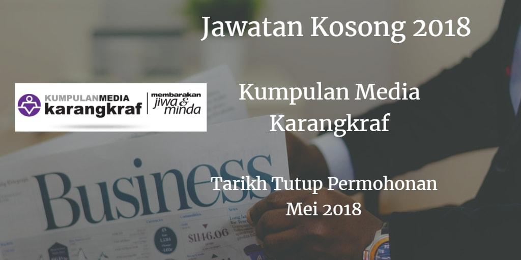 Jawatan Kosong Kumpulan Media Karangkraf Mei 2018