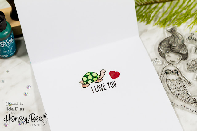 Swimming By To Say I Love You Valentine's Day Card - Honey Bee Stamps