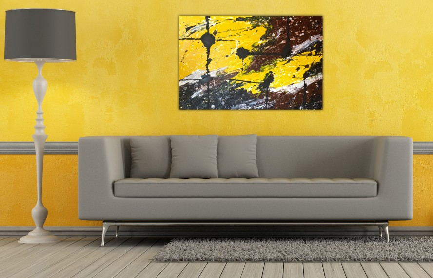 2  The Combination Of Gray And Yellow: This Combination Is Stunningly  Spectacular As Relaxing Colors For Living Room ...