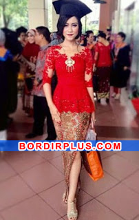 model kebaya wisuda modern simple