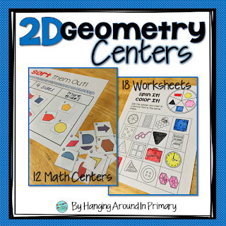 Engaging and fun 2D geometry math centers that will have your students begging to have math center time.