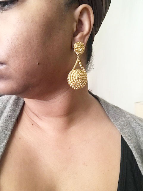 thrift tips, vintage earrings, vintage designer jewelry