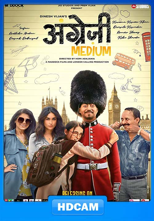 Angrezi Medium 2020 Hindi 720p HDCAM x264 | 480p 300MB | 100MB HEVC Poster