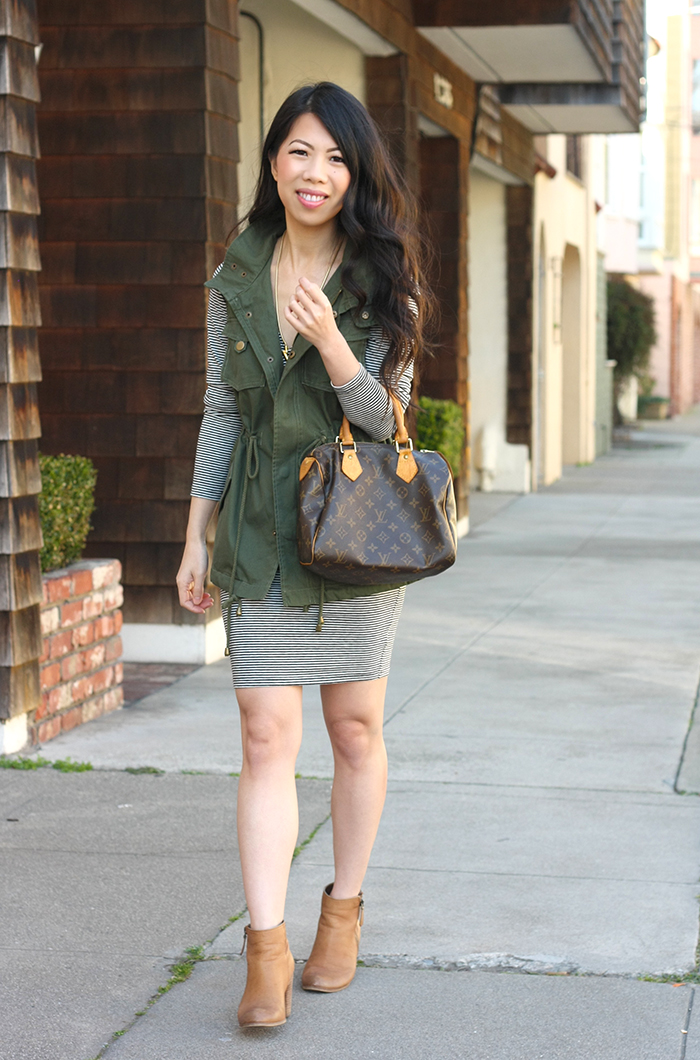 I've been on the hunt for a cargo vest for a while and ended up getting  this cotton twill military vest from Nordstrom since petite sizes were  available. - All About Fashion Stuff: Casual Outfit: Nordstrom Petite Cargo