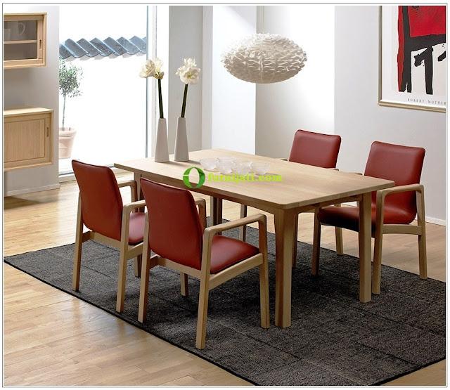 Harga meja kursi makan kursi 4 klasik