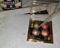 drip alcohol on broken eyeshadow powder press pan FIX tip hack makeup