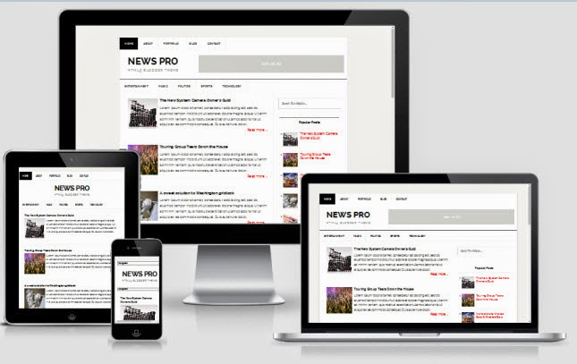 News Pro - Responsive Blogger Template
