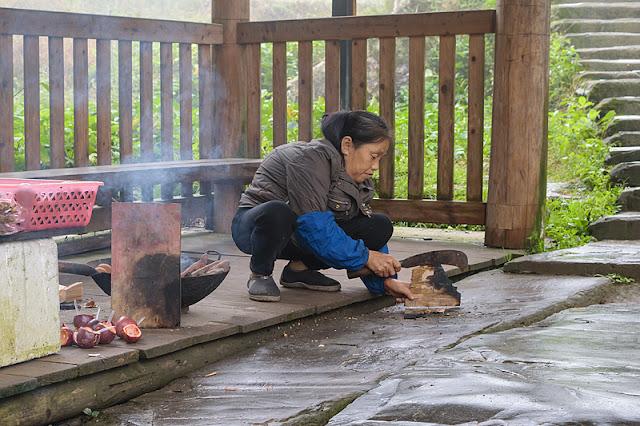Femme au travail à Ping'an