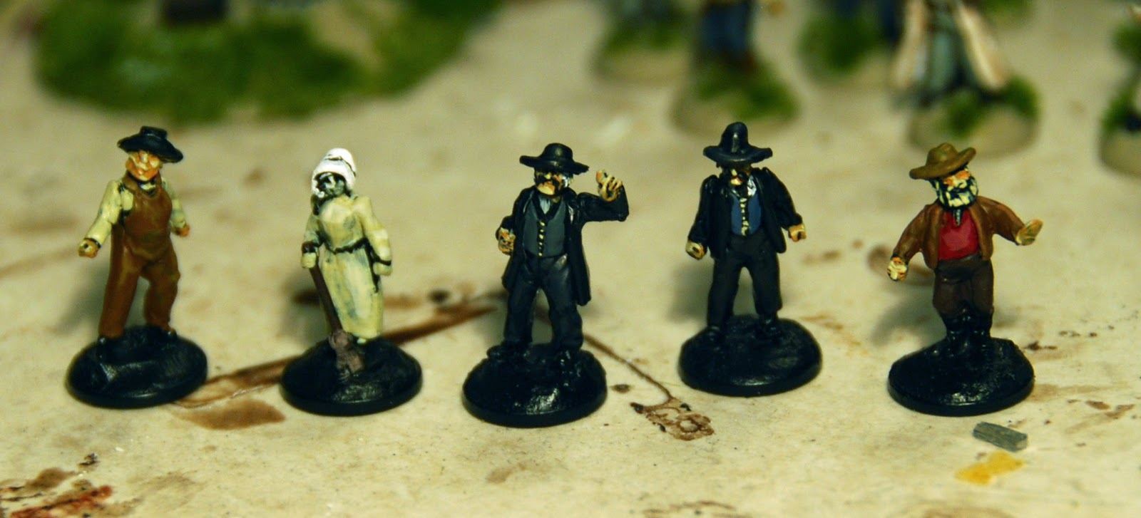 Lord Ashram's House of War: Some more 15mm Old West Civilians WIP