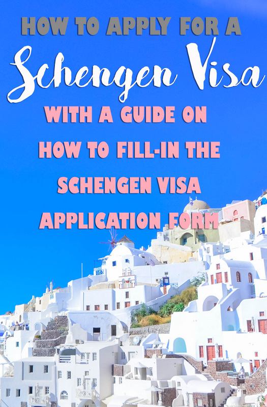 how to apply for schengen visa and fill out the form