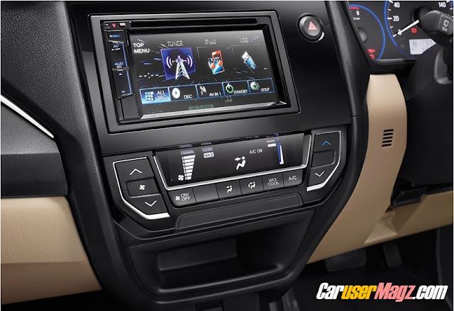 unit head dan AC digital honda mobilio facelift 2016