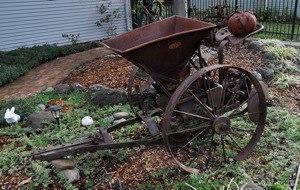 Yard Art Beautiful Old Farm Equipment