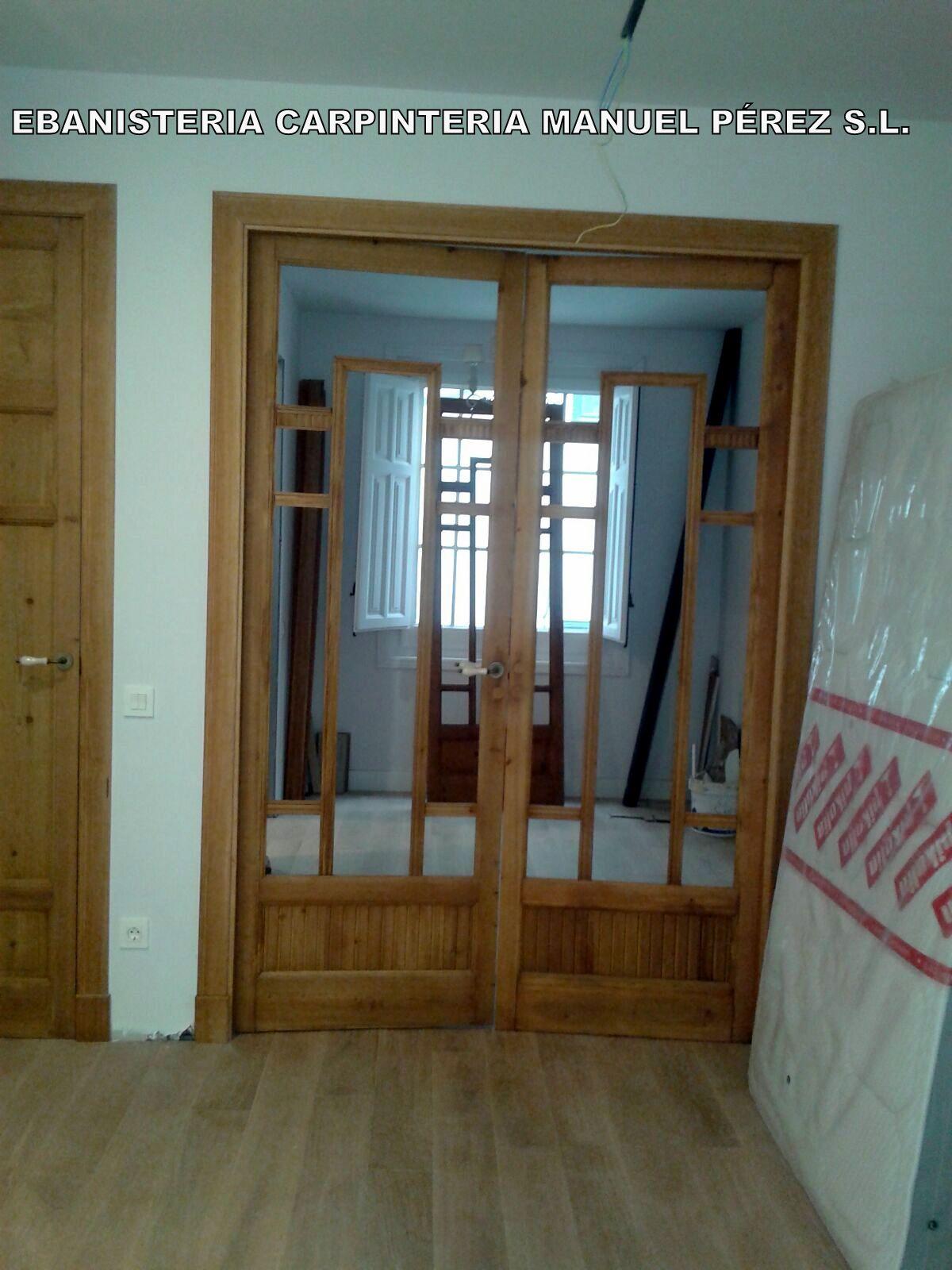 Ebanisteria carpinteria manuel perez zaragoza for Restauracion de puertas antiguas
