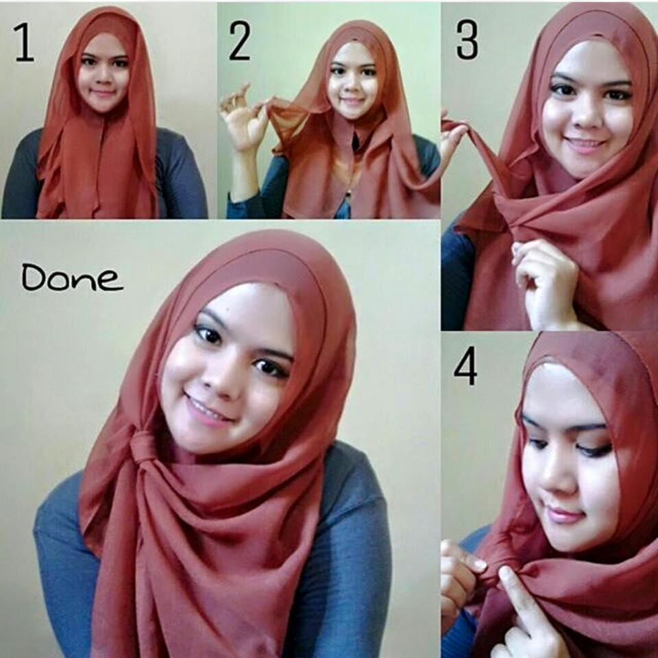 Tutorial Hijab Segi Empat Remaja Simple Tutorial Hijab Paling
