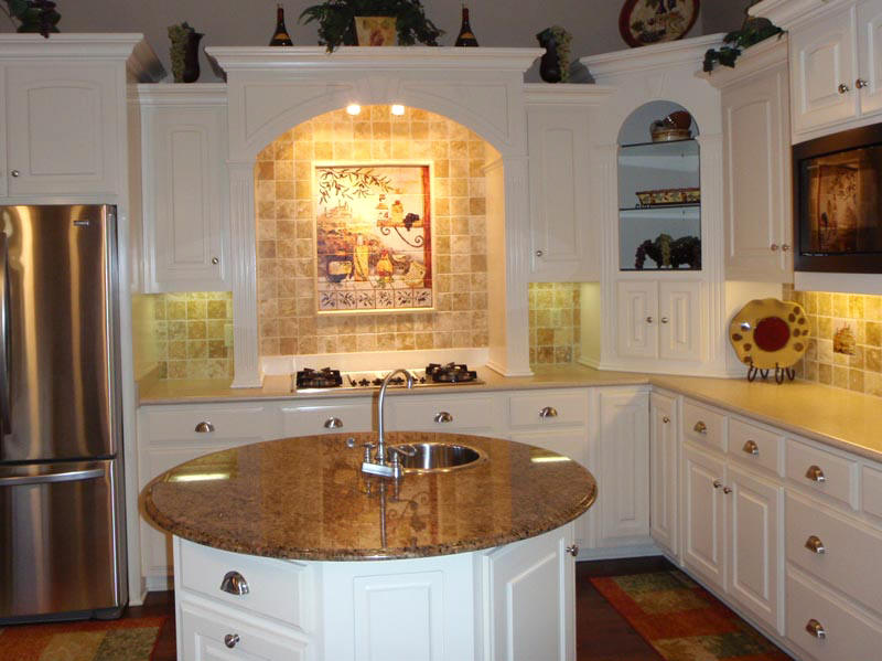 kitchen decorating ideas for white cabinets paint