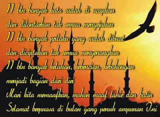 Gambar kata kata Ucapan Selamat Puasa Ramadhan