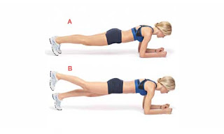 Single leg raised push up