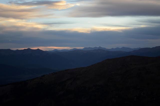 rows of peaks