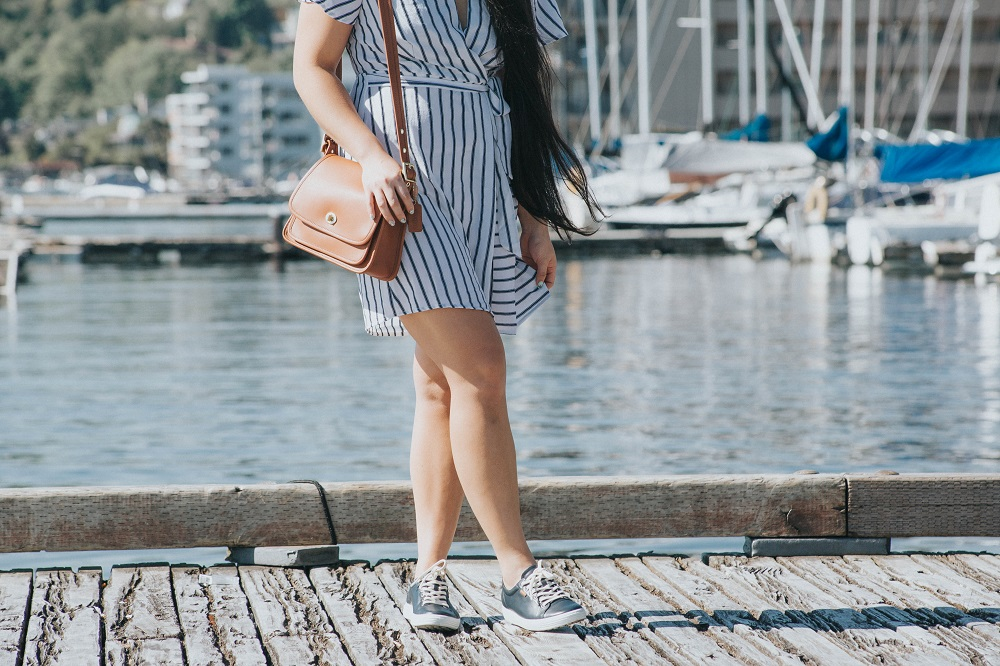 nordstrom striped dress nautical navy