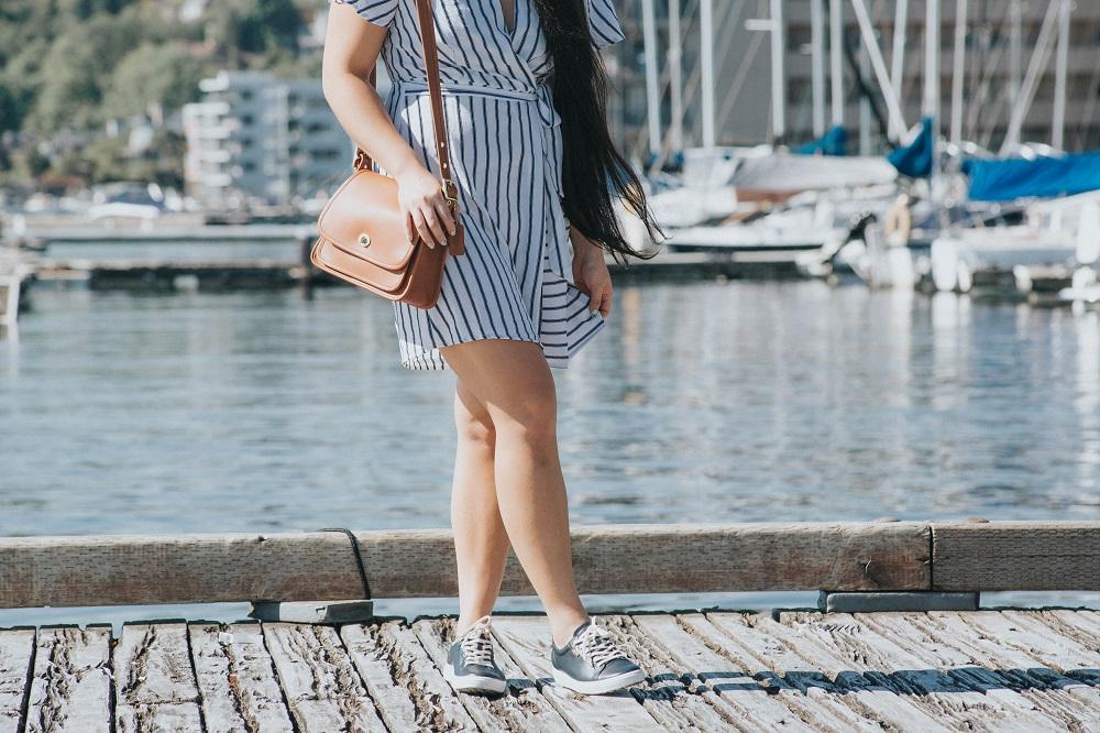 nordstrom striped dress nautical navy