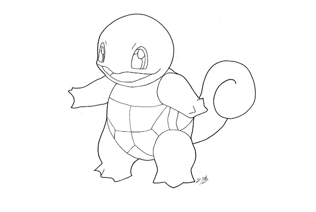 Squirtlecoloring Page For Our Family