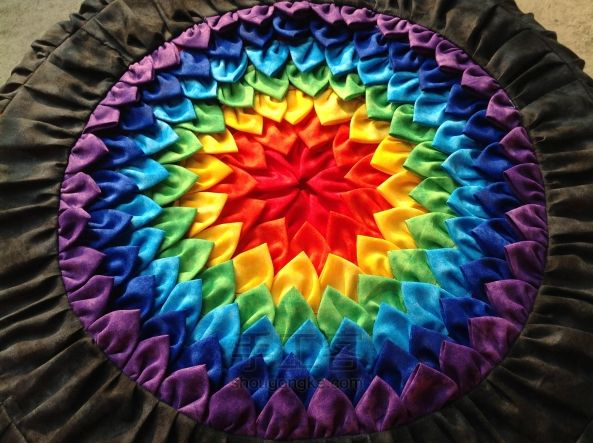 Patchwork cushion rainbow ~ Пэчворк подушка