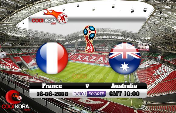 مشاهدة مباراة فرنسا وأستراليا اليوم 16-6-2018 بي أن ماكس كأس العالم 2018