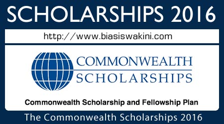 The Commonwealth Scholarship and Fellowship Plan (CSFP) 2016