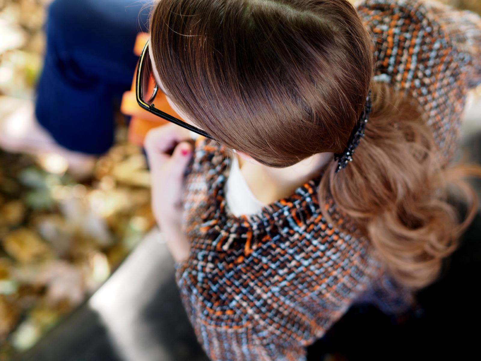 vystrapkaný blazer v jesennom outfite // handmade blazer in autumn outfit