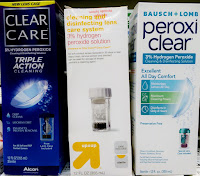 clear care peroxi clear contact lens cleaner cleanser hydrogen peroxide phosphoric acid BURNS!