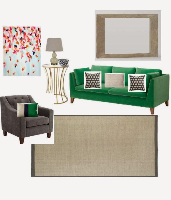 Kelly Green Living Room